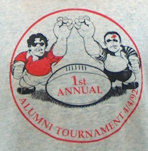 1st annual Rugby Alumni Weekend Tshirt April 4 1992
